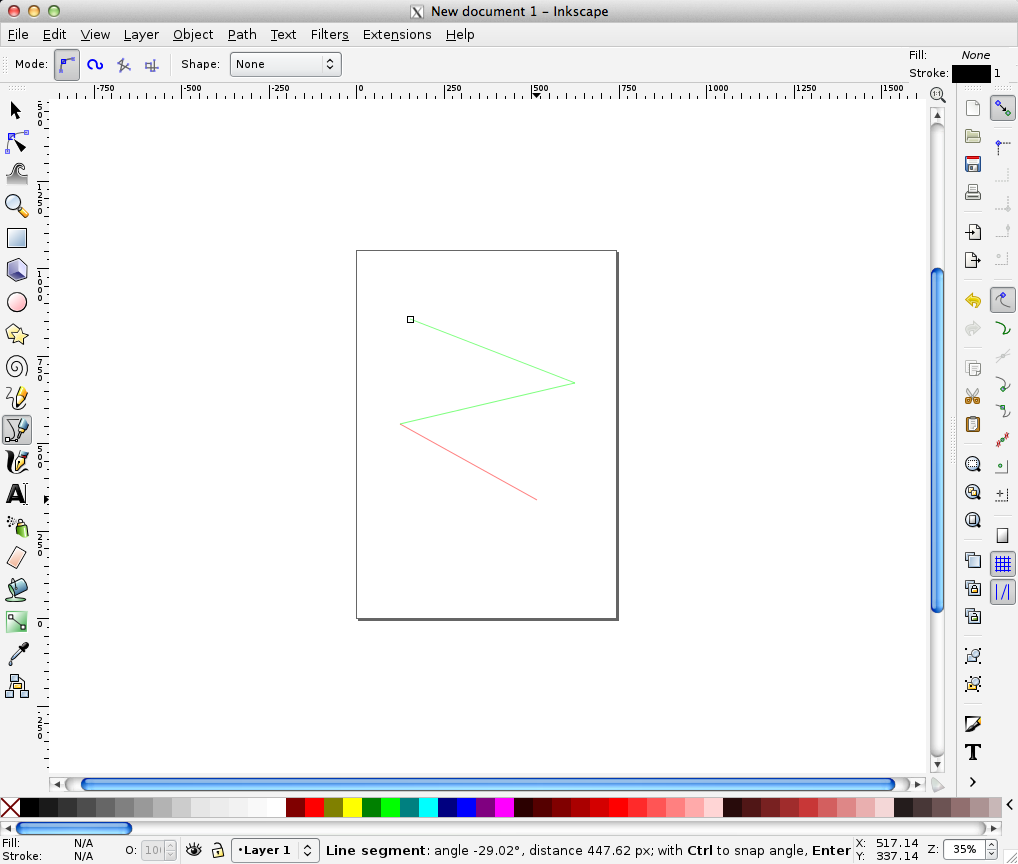 Drawing Lines With Inkscape : 基本的図形の描画 hwb